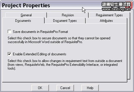 Project Properties 的 Documents 项