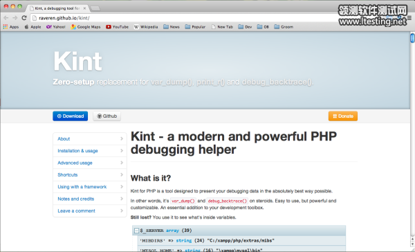 Best PHP debugging Tools  - kint